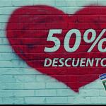 En San Valentín 50% de descuento