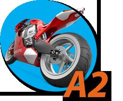 Motocicleta (Permiso A2) en Autoescuelas Vial Masters